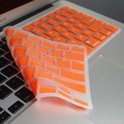 """ORANGE Keyboard Cover Skin for Macbook Air 13"""" A1369"""