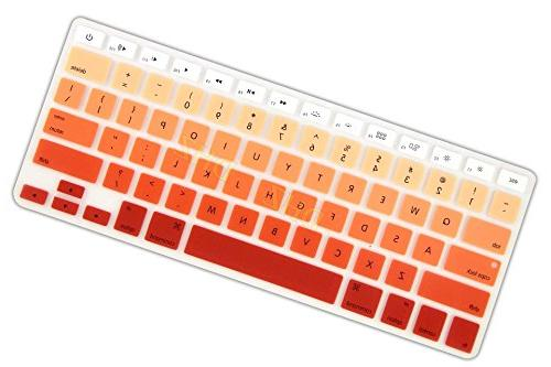 DHZ Orange Ombre Keyboard Cover Silicone Skin for 2015 MacBook Pro
