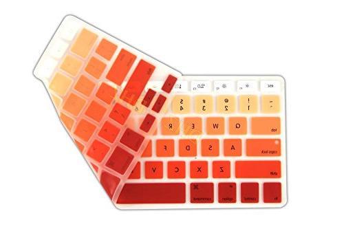 DHZ Orange Cover Silicone Skin 2015 Older MacBook 13 MacBook Pro 13
