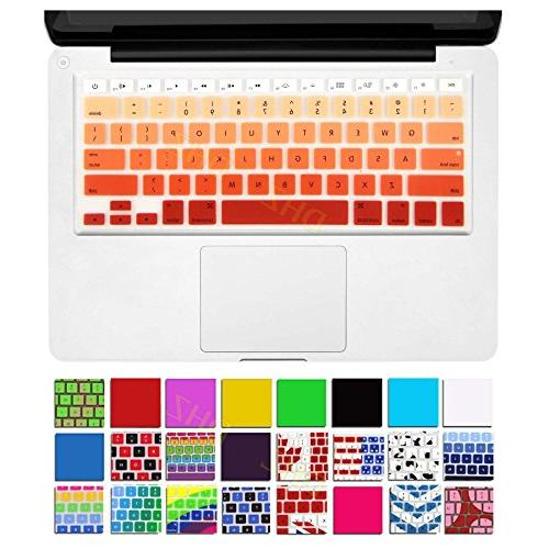 orange ombre keyboard cover silicone