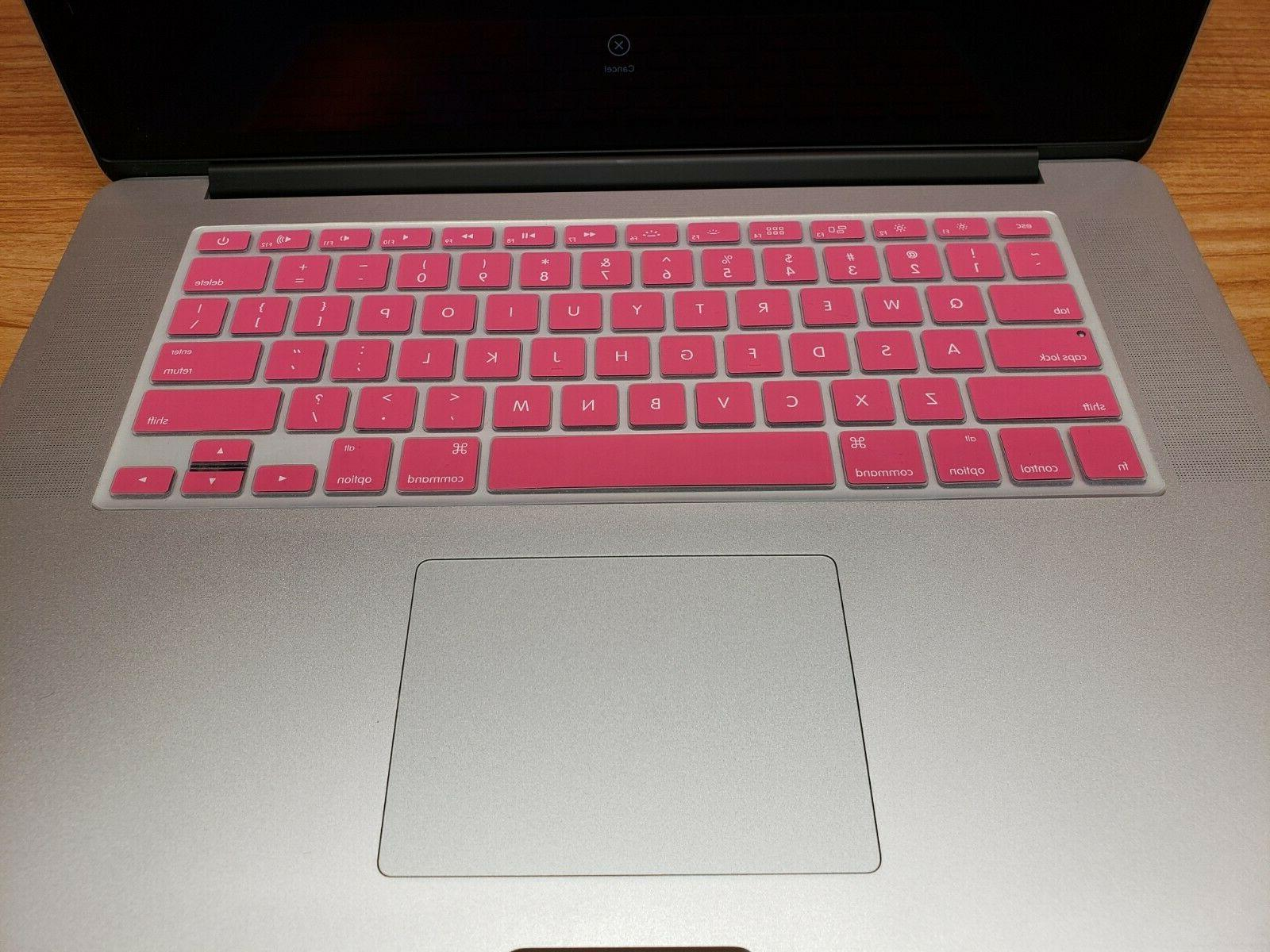 Pink Protective Keyboard Cover 13 17 2008-2015