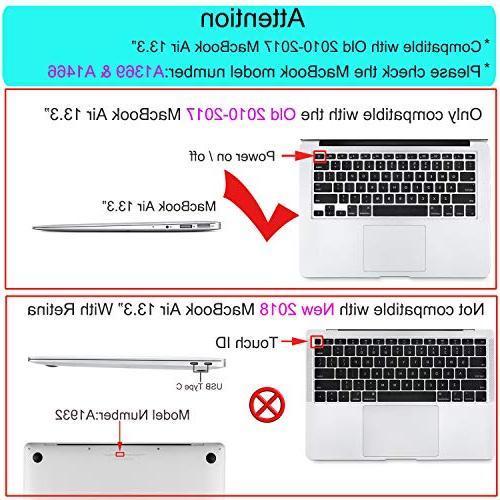 MOSISO MacBook Air 13 Inch , Plastic Pattern Keyboard Air 13 Marble