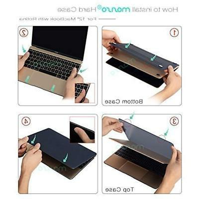 Plastic Case With Keyboard Cover Screen Protector For MacBook 12 Inch