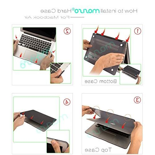 MOSISO Inch Case , Pattern Case Keyboard Cover Protector Only MacBook Air 13 Marble