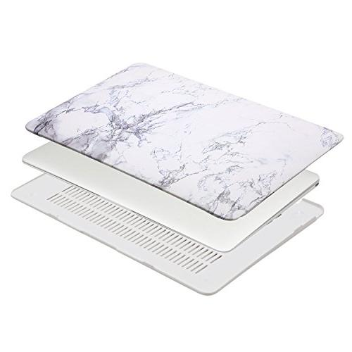 MOSISO Air Inch Pattern Hard & Keyboard Cover & Screen Protector Compatible Air , White
