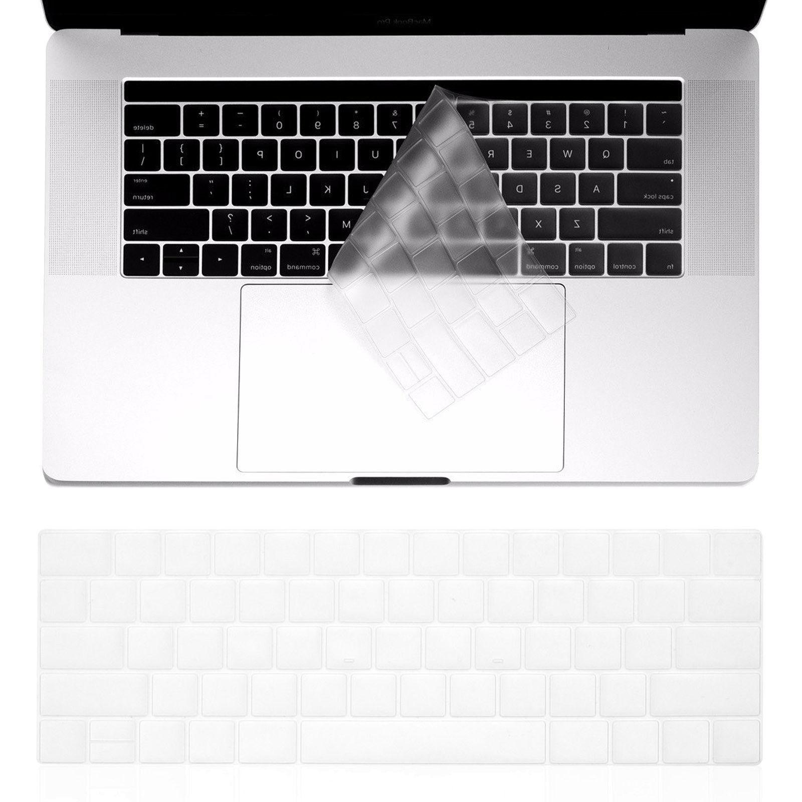 2pc Waterproof Clear Soft Keyboard Cover Skin F 2018 Macbook