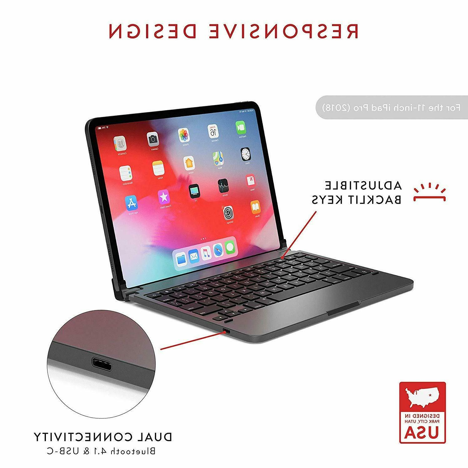 Brydge Pro Keyboard w/ Magnetic iPad inch Space