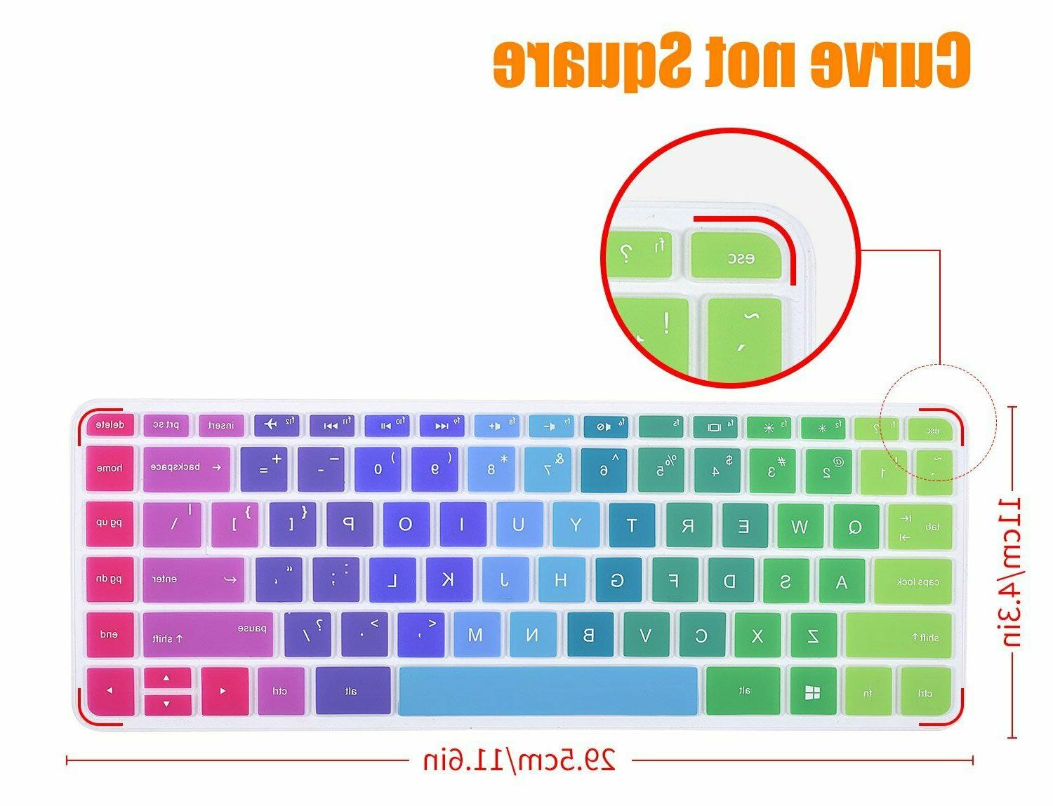 Rainbow Keyboard Case Silicone Hp Pavilion Inch Laptop
