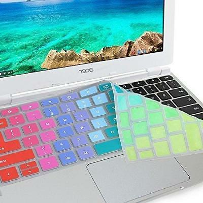 "GMYLE Rainbow Silicon Keyboard Cover for Acer 11.6"" Chromebo"