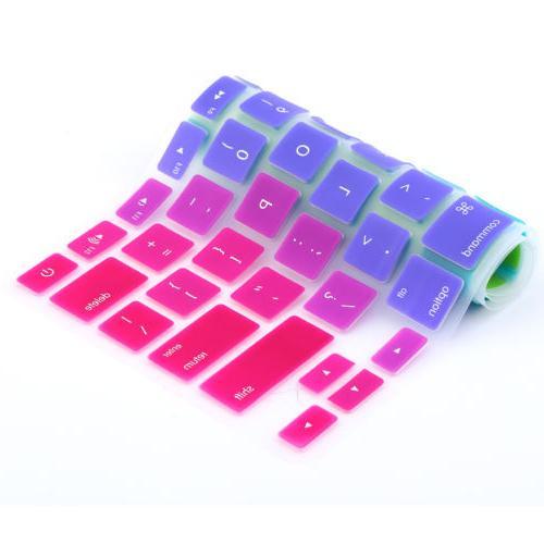 "Rainbow Silicone Case Cover Skin iMac 15"""