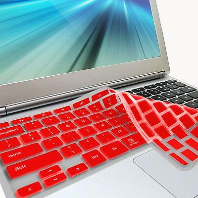 FORITO Red Keyboard Cover Skin for Samsung ARM 11.6'' Chrome