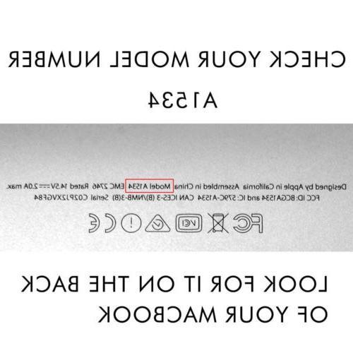 For MacBook Inch Rubberized Hard Case Keyboard