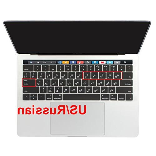 Batianda Cover for New Apple 15 inch with Bar 2017 2016 Silicone Keyboard Protector