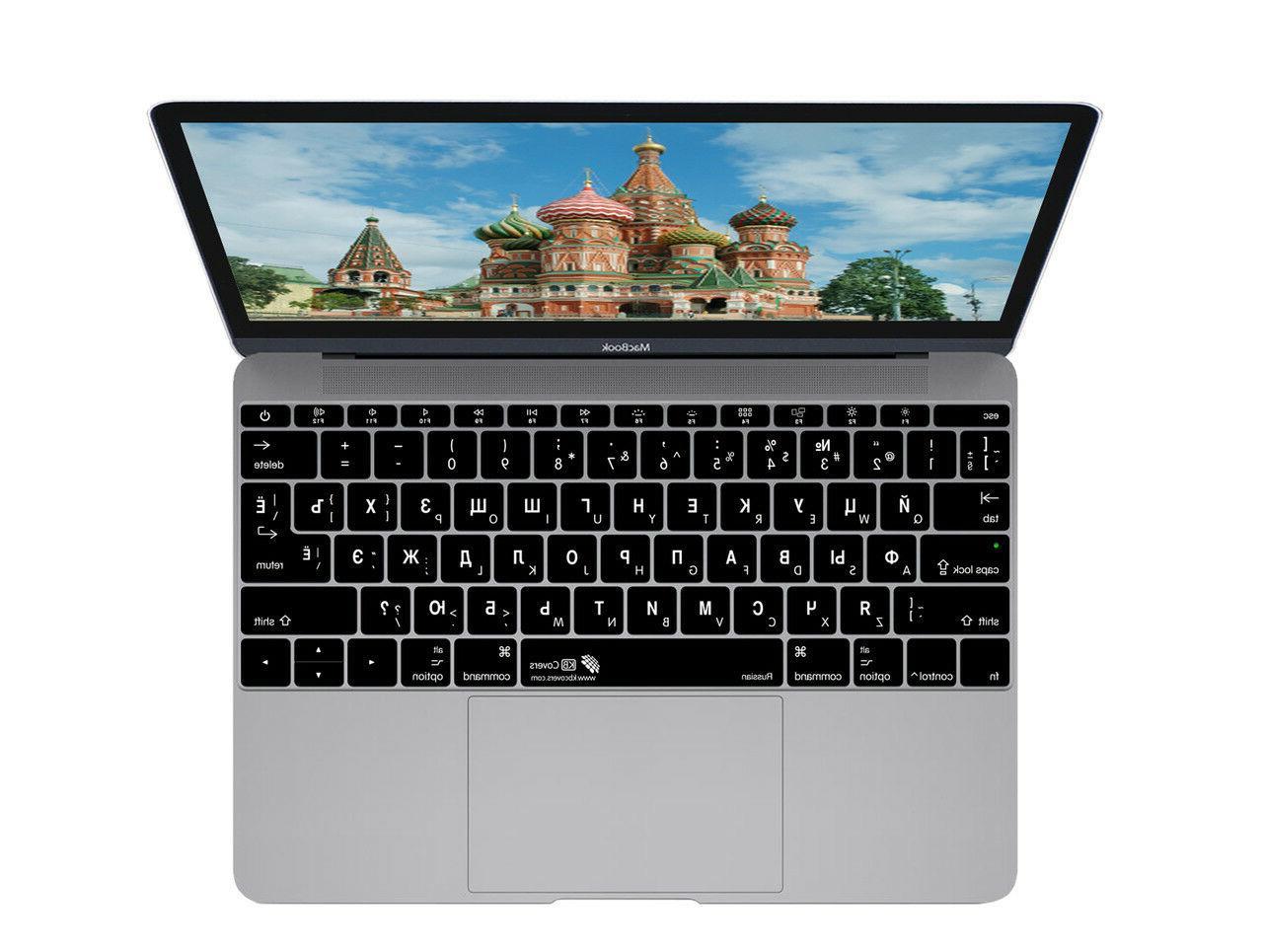 russian keyboard cover for macbook 12 retina