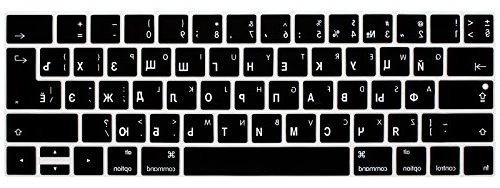HRH Russian Language Keyboard Skin MacBook Pro with Touch 13 Inch and 15 2016 2017 Release