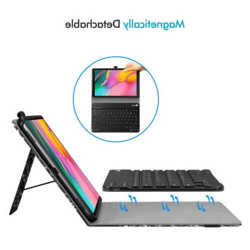 For Galaxy Stand Cover with Bluetooth Keyboard