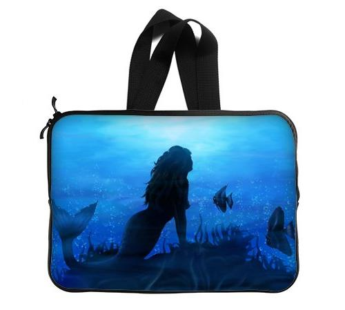 sea mermaids protective laptop sleeve