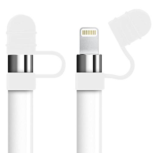 kwmobile 3in1-Set Compatible Apple iPad Pencil - Cap Pen - Charge Connection Protection USB Connection
