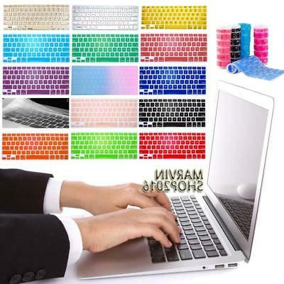 "Silicon Keyboard Protector Cover For 11 12 13"" 15"" Apple Mac"