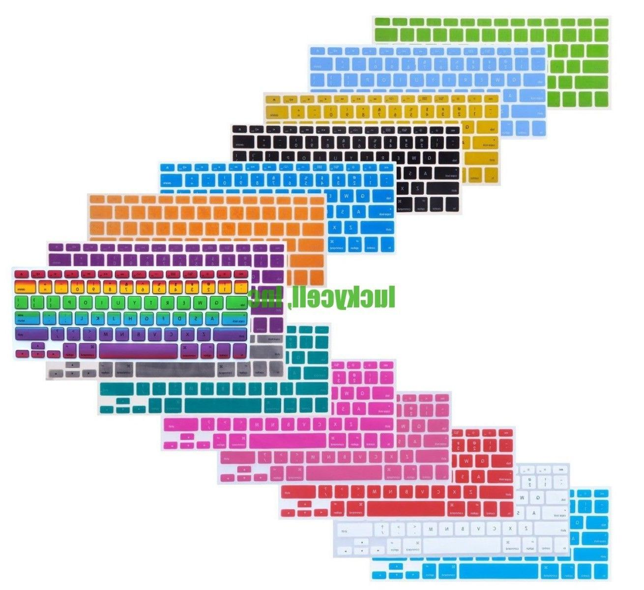 Silicone Colorful Keyboard Cover Pro Retina 13 15