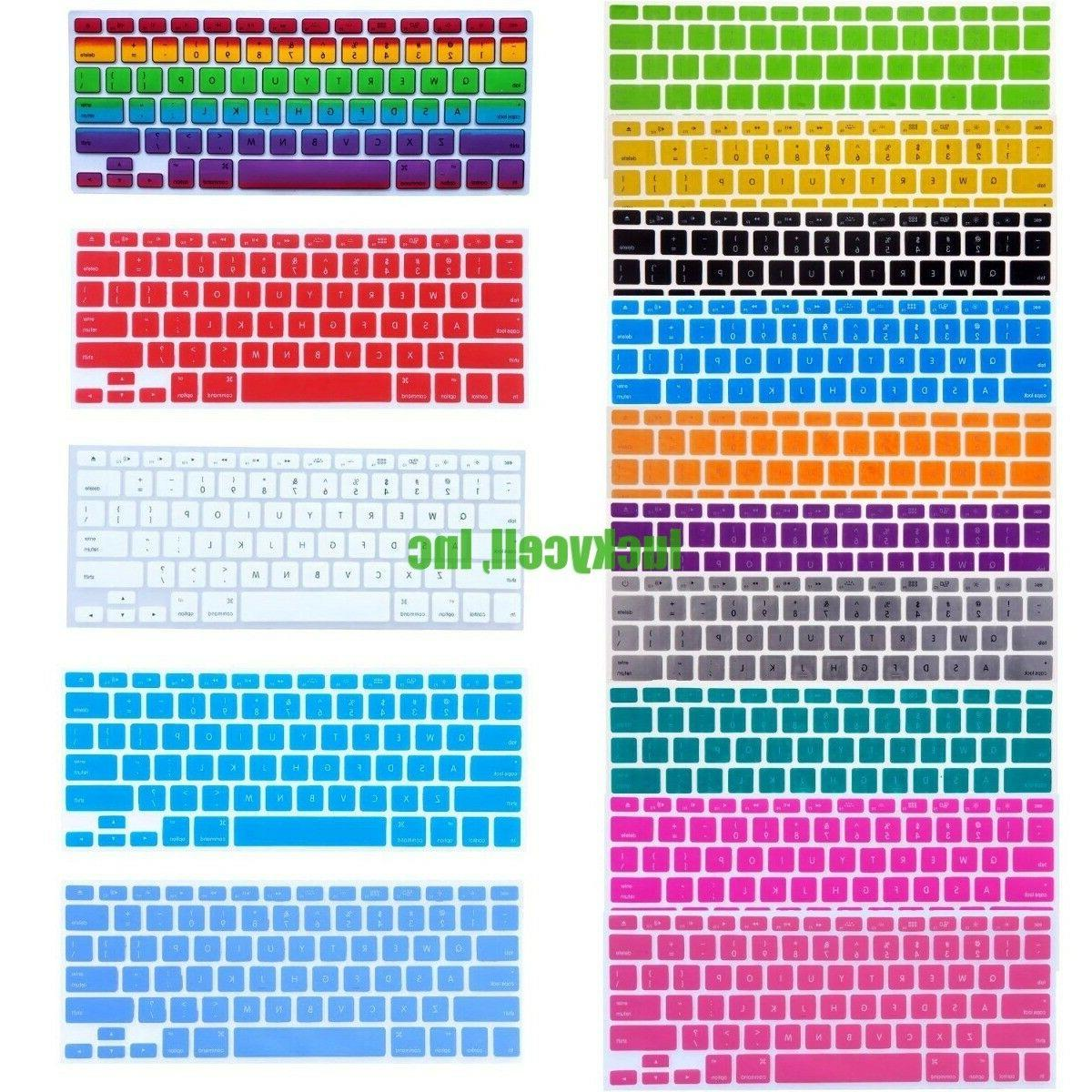 Silicone Colorful Keyboard Skin Cover For MacBook Air Pro Re