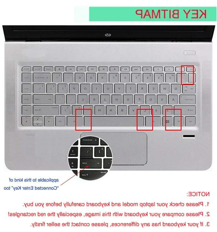 Silicone Keyboard Skin For 14 Pavilion 14-Ac 14-An Hp