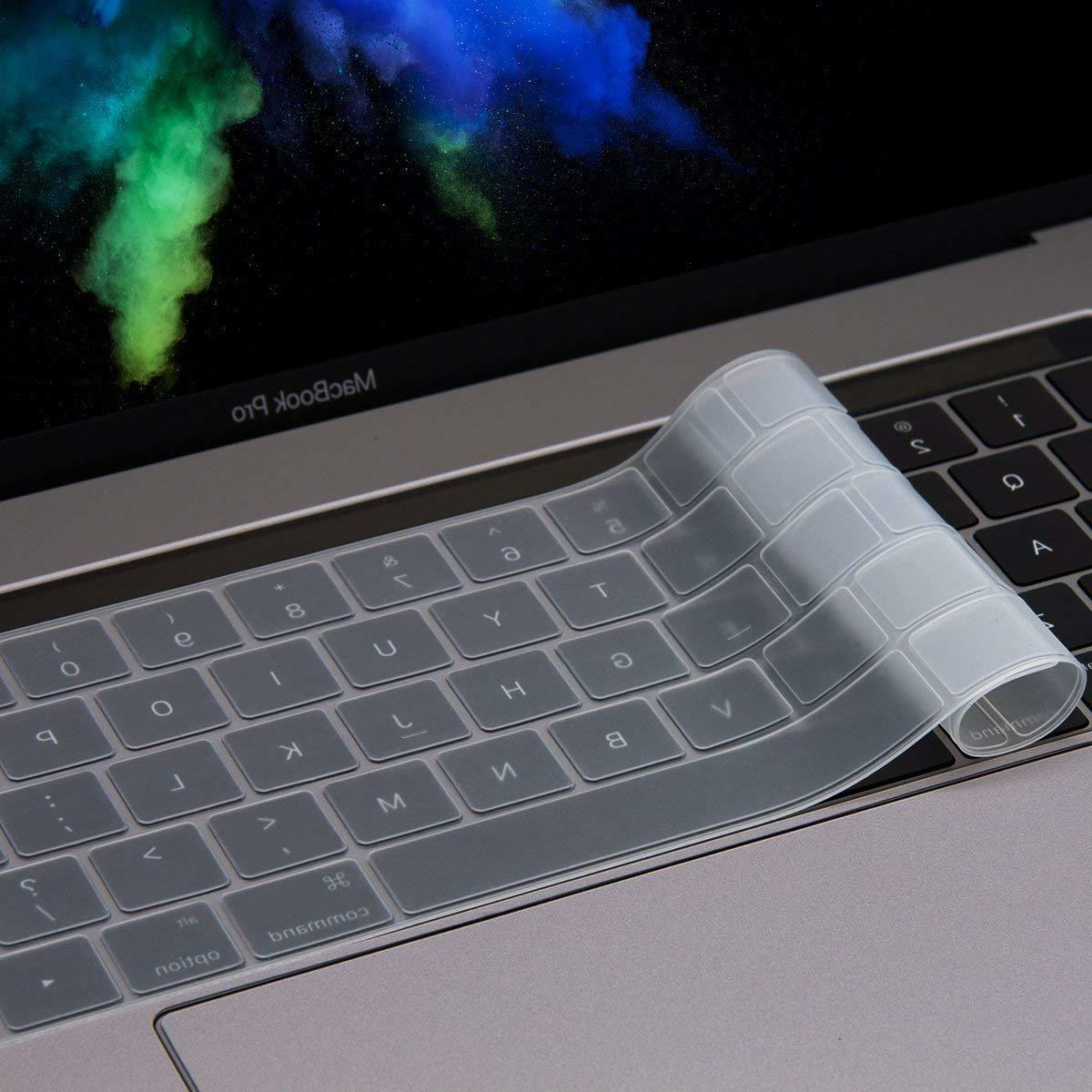 Soft Silicone Cover Skin for 2019-2016 Pro 13/15 with Touch Bar