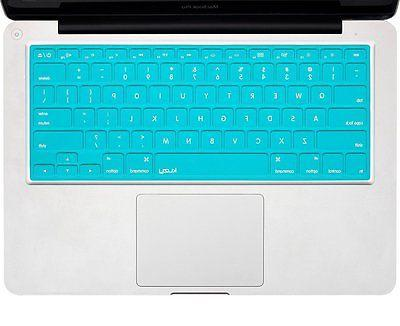 Kuzy Solid BLACK Keyboard Cover Silicone Skin for MacBook Pr
