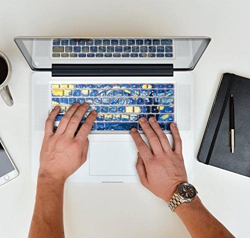 """HERNGEE Van Gogh Keyboard Cover Air 13"""" MacBook 13"""" iMac Wireless"""