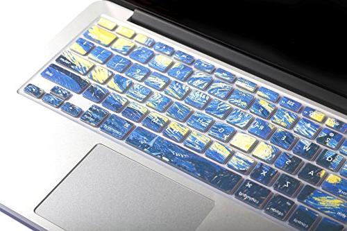 """HERNGEE Starry Van Gogh Cover Compatible with Air MacBook 13"""" 15"""" 17"""" iMac"""