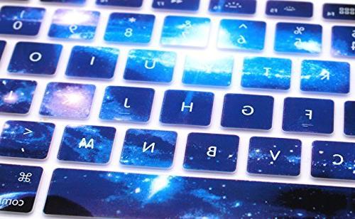 HRH Silicone Skin MacBook 13,MacBook Pro 13/15/17 iMac Layout,Swirl Starry Sky