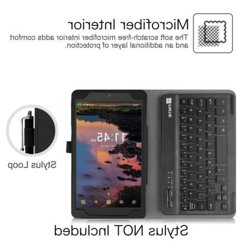 For T-Mobile 8-inch Tablet Case Cover with Bluetooth Keyboard