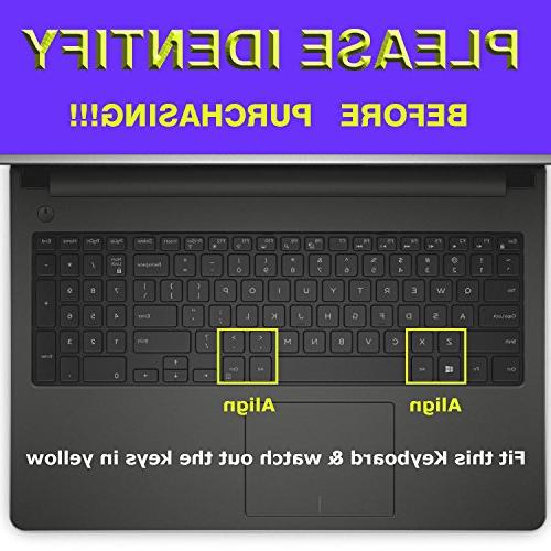 FORITO Thin Keyboard Cover for Laptop i7559, Dell Inspiron 5000, Inspiron 17 series US Keyboard Protector Dell Inspiron Laptop US
