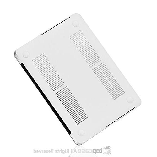 """1 White Marble Hard Cover with Older Generation MacBook 13"""" with Model: A1425 - Marble White"""