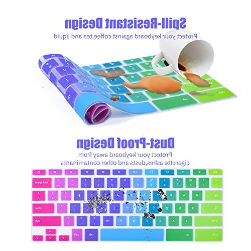 Colorful Keyboard for 2019/2018/2017 Samsung Chromebook 3 Chromebook / Chromebook XE500C12 Samsung 2-in-1