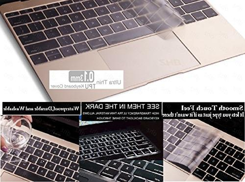 DHZ Ultra Thin Soft Transparent Keyboard Cover for US Waterproof Dust-Proof, Clear TPU