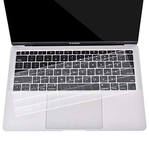 MOSISO TPU Compatible Newest MacBook 13 A1932 & ID, Protective Transparent