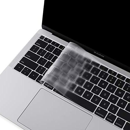 MOSISO Ultra TPU Keyboard Protector Compatible Newest MacBook 13 A1932 with & Touch Soft Protective Transparent Skin,