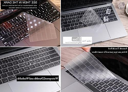 "DHZ Ultra Thin Keyboard Cover Newest Bar Pro 13"" Waterproof Dust-Proof TPU"