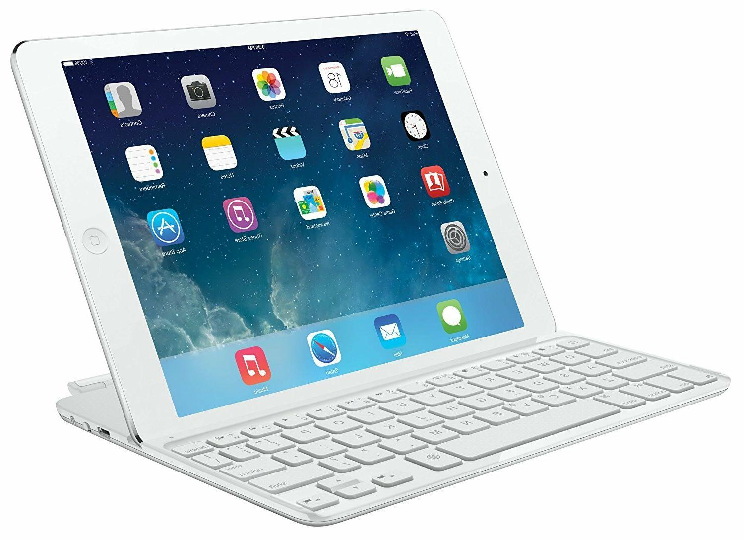 LOGITECH Ultrathin Keyboard/Cover Case for iPad Air - White