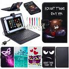 US Folio Leather Keyboard Cover Case For 7'' 8'' inch Androi