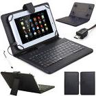 NEW Stand PU Leather Case Cover+Micro USB Keyboard For 7'' 8