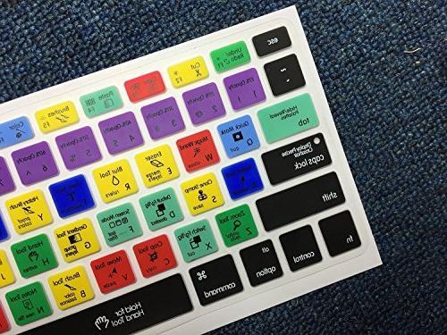 Dogxiong Photoshop Shortcuts Hot Keyboard Protection MacBook Air 13 inch MacBook