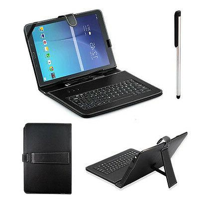 USB Keyboard Stand Case Cover For Samsung Galaxy Tab E T560