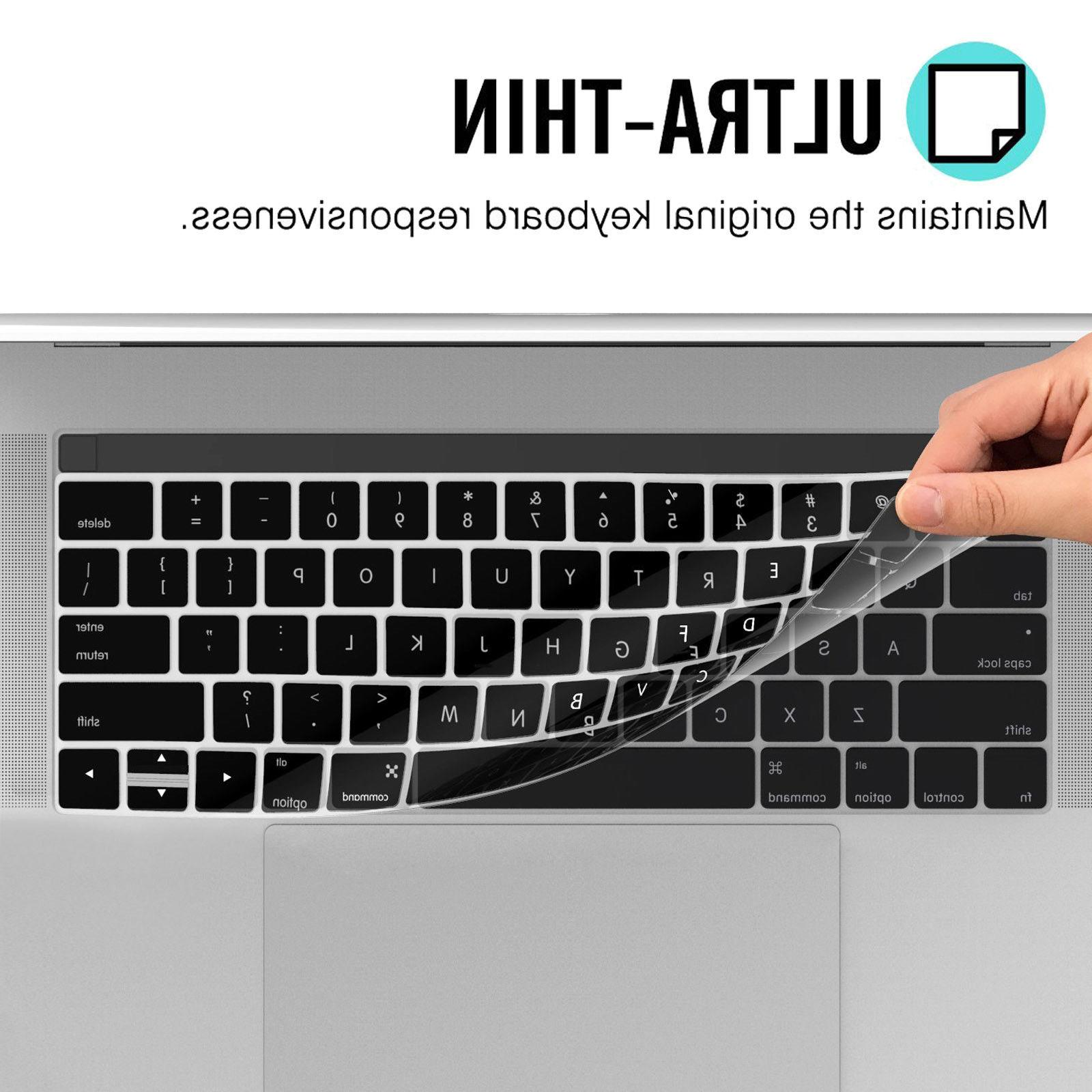 Waterproof Silicone Cover Skin F Macbook Touch Bar