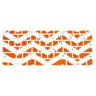 Allytech Zig - Zag Series Orange and White Silicone Keyboard