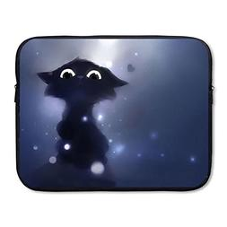 Summer Moon Fire Laptop Sleeve Bag Anime Cat Cover Computer