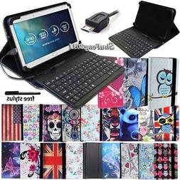Leather Stand Cover Case With Keyboard For Various Huawei Me