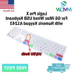 Logic Pro X Shortcuts Silicone Keyboard Cover for iMac G6 Nu