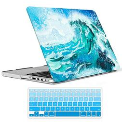 iCasso MacBook Pro 13 Retina Case Rubber Coated Hard Shell P
